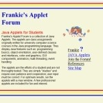 Frankie's Applet Forum